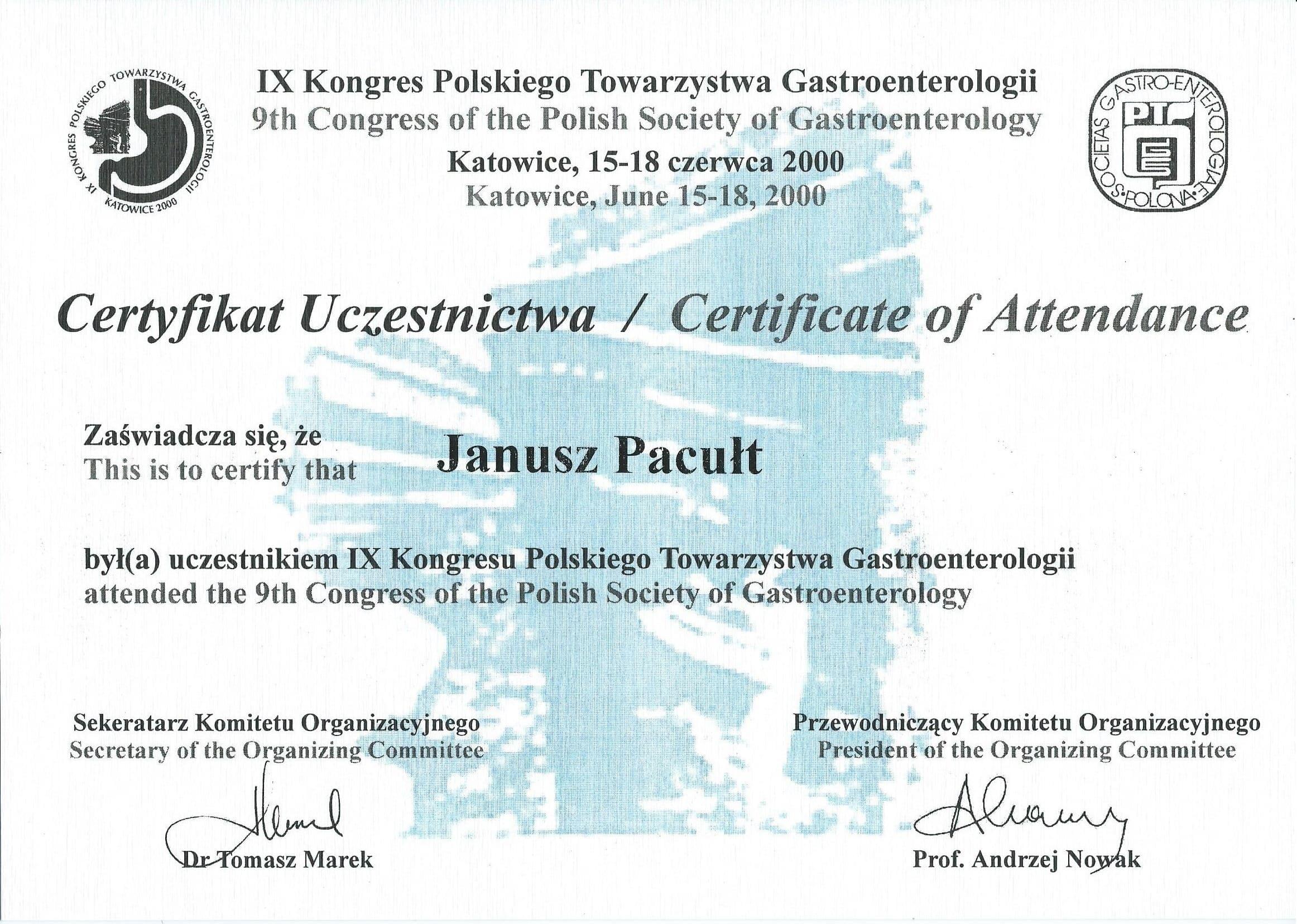2000 Gastroenterologia K-ce