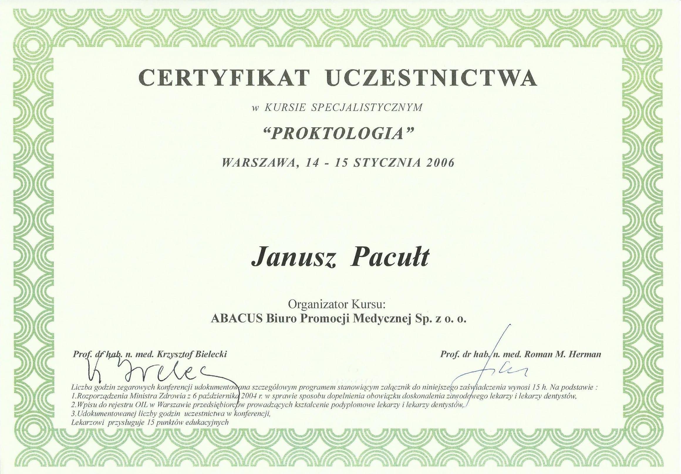 2006 Proktologia W-wa