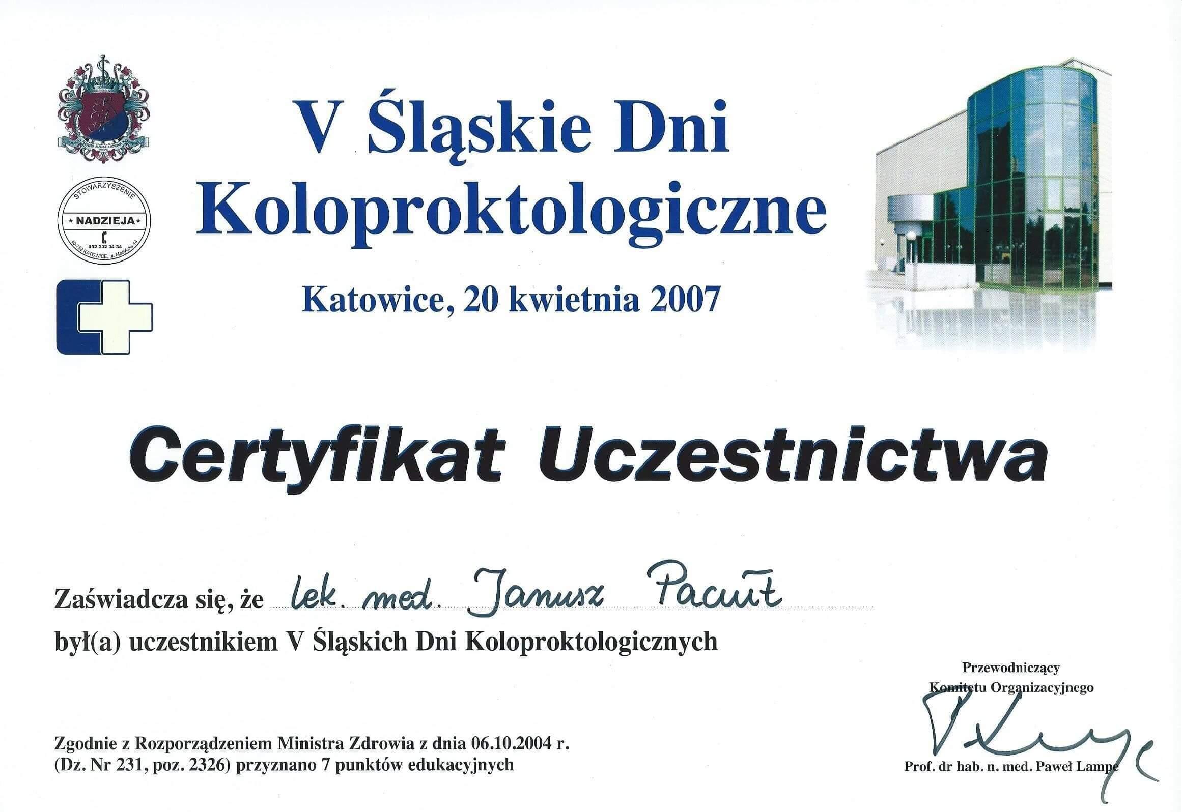 2007 Koloproktologia